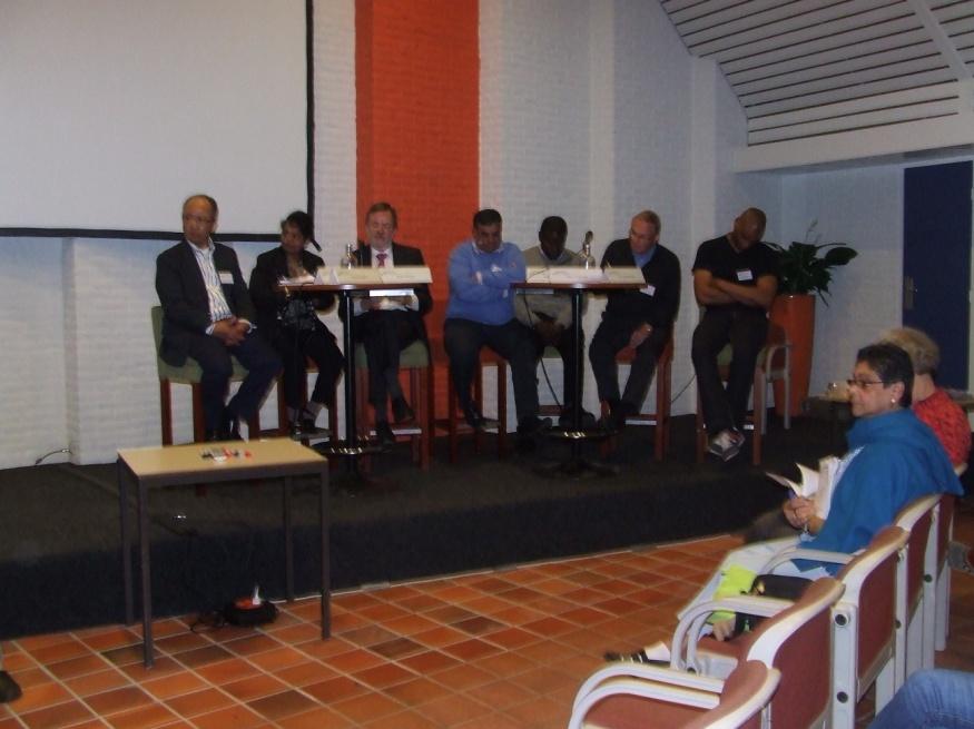Podium op de conferentie