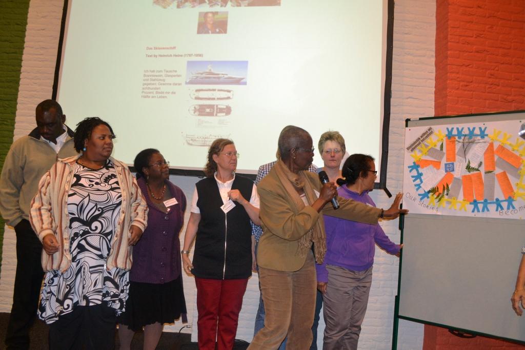 Deelnemers leggen hun beelden uit